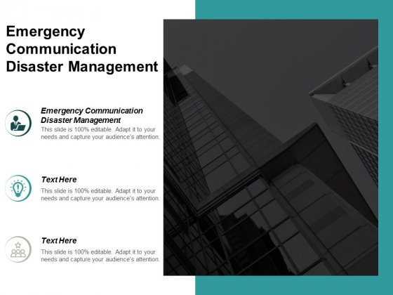 Emergency Communication Disaster Management Ppt PowerPoint Presentation Shapes Cpb