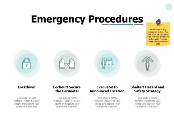 Emergency Procedures Marketing Ppt PowerPoint Presentation Slides Elements