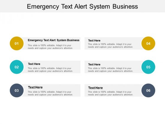 Emergency Text Alert System Business Ppt PowerPoint Presentation Styles Grid Cpb Pdf