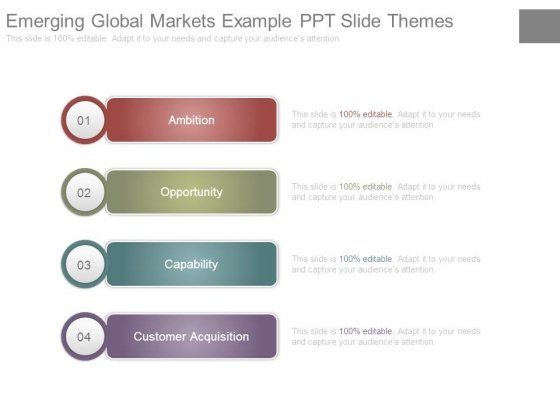 Emerging Global Markets Example Ppt Slide Themes