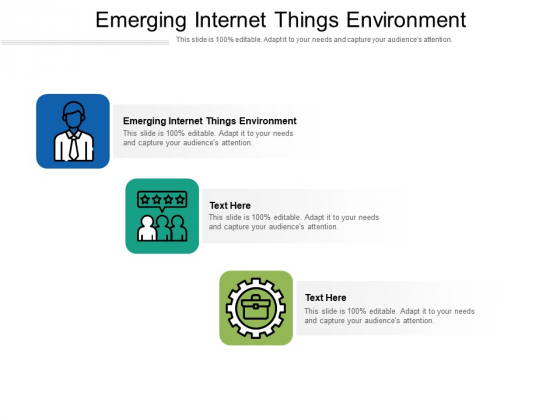 Emerging Internet Things Environment Ppt PowerPoint Presentation Outline Background Images Cpb Pdf