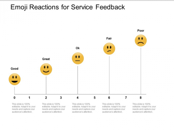 Emoji Reactions For Service Feedback Ppt PowerPoint Presentation Icon Brochure