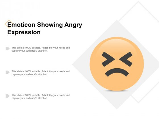 Emoticon Showing Angry Expression Ppt PowerPoint Presentation Icon Professional