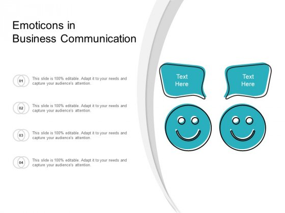 Emoticons In Business Communication Ppt PowerPoint Presentation Professional Introduction
