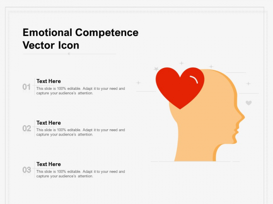 Emotional Competence Vector Icon Ppt Inspiration Objects PDF