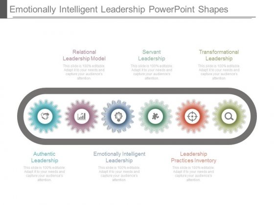 Emotionally Intelligent Leadership Powerpoint Shapes