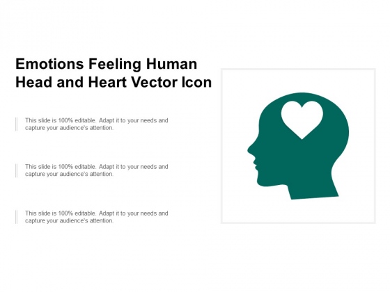 Emotions Feeling Human Head And Heart Vector Icon Ppt PowerPoint Presentation Pictures Designs