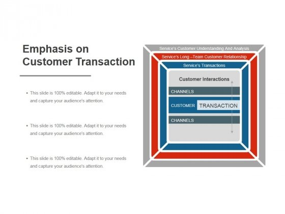 Emphasis On Customer Transaction Ppt PowerPoint Presentation Templates