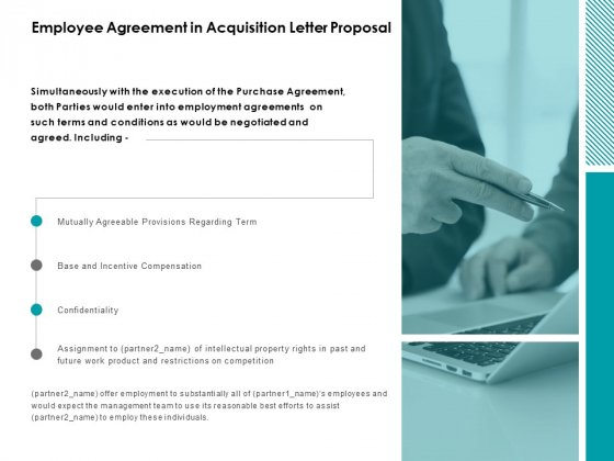 Employee Agreement In Acquisition Letter Proposal Ppt Powerpoint Presentation Ideas Aids