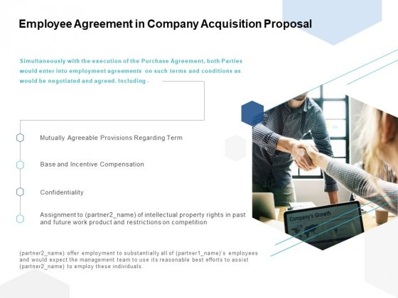 Employee Agreement In Company Acquisition Proposal Ppt PowerPoint Presentation Infographic Template Rules