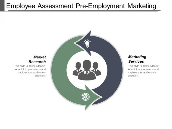 Employee Assessment Pre Employment Marketing Services Market Research Ppt PowerPoint Presentation Summary Graphics