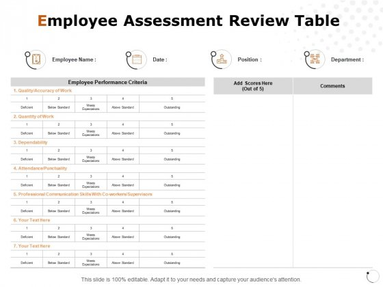 Employee_Assessment_Review_Table_Ppt_PowerPoint_Presentation_File_Graphics_Tutorials_Slide_1