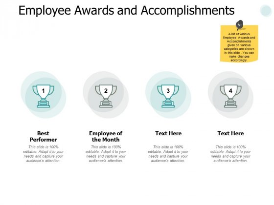 Employee Awards And Accomplishments Ppt PowerPoint Presentation Portfolio Samples