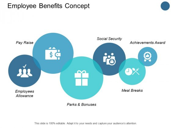 Employee Benefits Concept Social Security Ppt PowerPoint Presentation Icon Backgrounds
