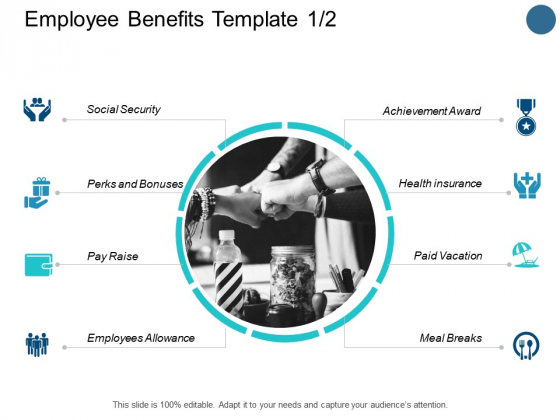 Employee Benefits Template Achievement Award Ppt PowerPoint Presentation File Clipart Images