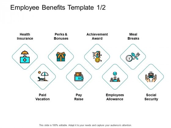 Employee Benefits Template Achievement Ppt PowerPoint Presentation Layouts Example Topics