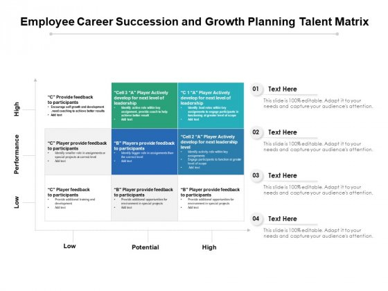 Employee Career Succession And Growth Planning Talent Matrix Ppt PowerPoint Presentation Gallery Files PDF