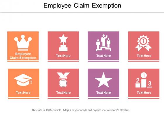 Employee Claim Exemption Ppt PowerPoint Presentation Slides Inspiration Cpb Pdf