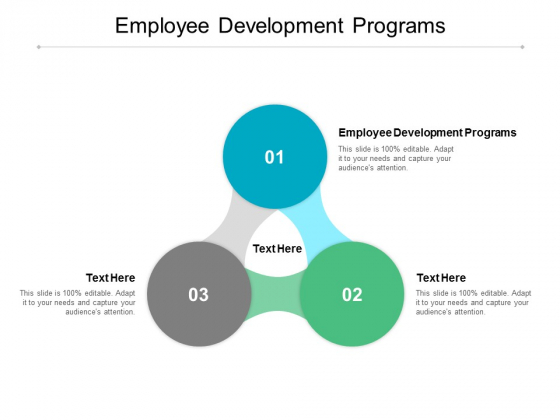 Employee Development Programs Ppt PowerPoint Presentation Slides Deck Cpb
