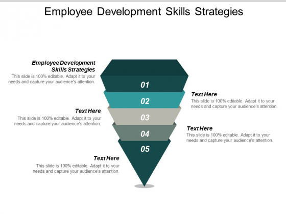 Employee Development Skills Strategies Ppt PowerPoint Presentation Slides Guidelines Cpb