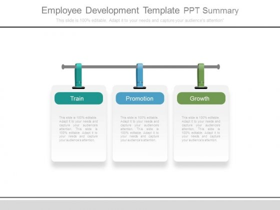 Employee Development Template Ppt Summary