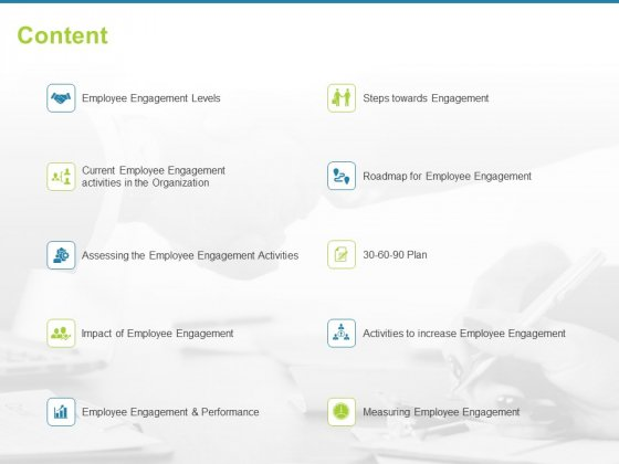 Employee Engagement Activities Company Success Content Ppt Styles Model PDF