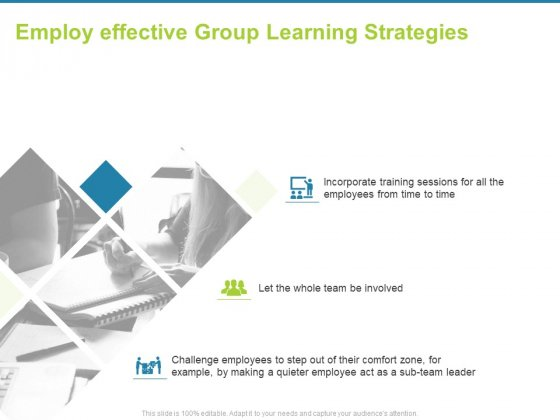 Employee Engagement Activities Company Success Employ Effective Group Learning Strategies Information PDF