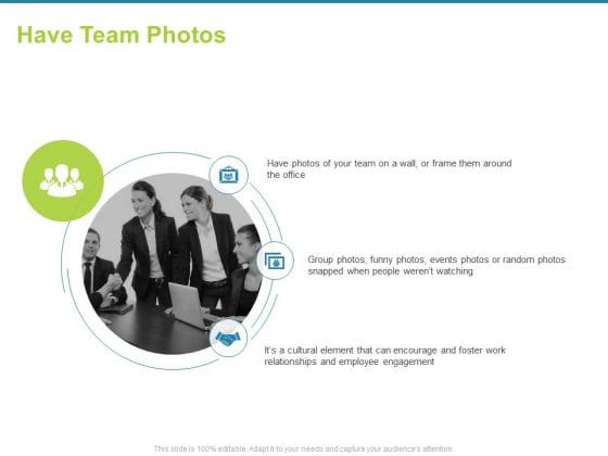 Employee Engagement Activities Company Success Have Team Photos Ppt Slides Microsoft PDF