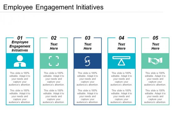 Employee Engagement Initiatives Ppt PowerPoint Presentation Pictures Format Cpb