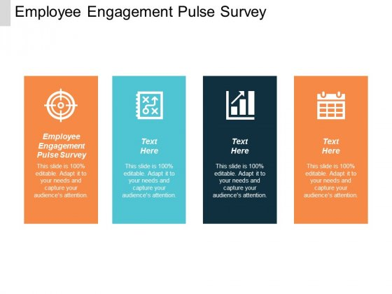 Employee Engagement Pulse Survey Ppt PowerPoint Presentation Visual Aids Infographic Template Cpb