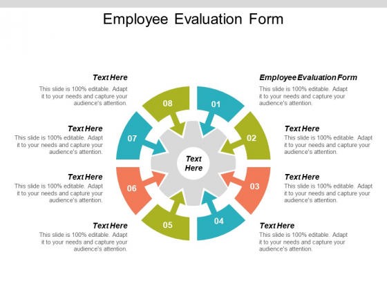 Employee Evaluation Form Ppt PowerPoint Presentation Inspiration Elements Cpb