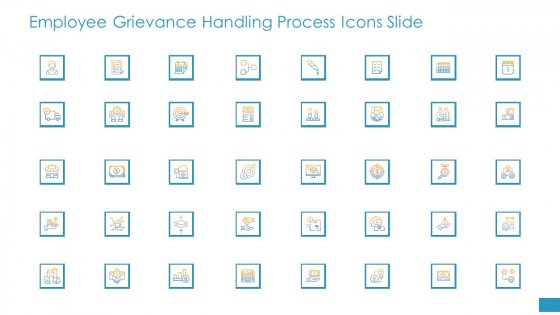 Employee Grievance Handling Process Icons Slide Ppt Icon Infographic Template PDF