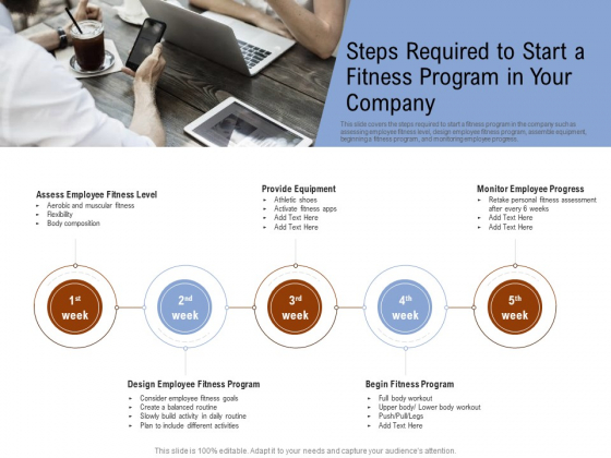 Employee Health And Fitness Program Steps Required To Start A Fitness Program In Your Company Infographics PDF