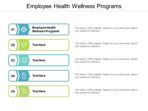 Employee Health Wellness Programs Ppt PowerPoint Presentation Portfolio Summary Cpb