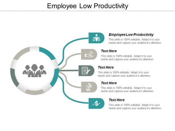 Employee Low Productivity Ppt PowerPoint Presentation Outline Ideas Cpb