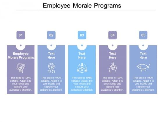 Employee Morale Programs Ppt Powerpoint Presentation Ideas Layouts Cpb