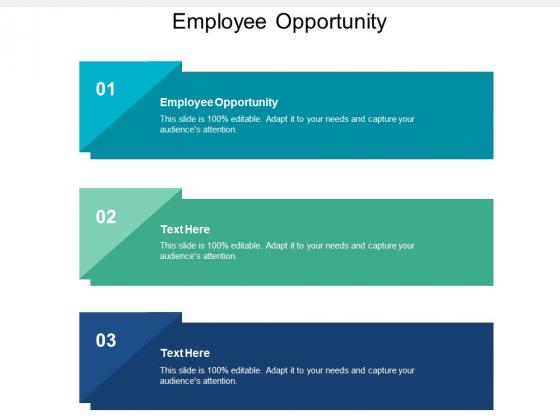 Employee Opportunity Ppt PowerPoint Presentation Ideas Model Cpb