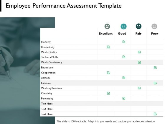 Employee Performance Assessment Template Technical Skills Ppt PowerPoint Presentation Introduction