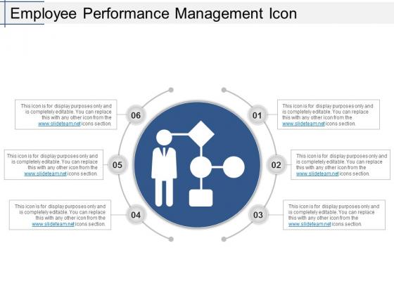 Employee Performance Management Icon Ppt PowerPoint Presentation Slides Templates