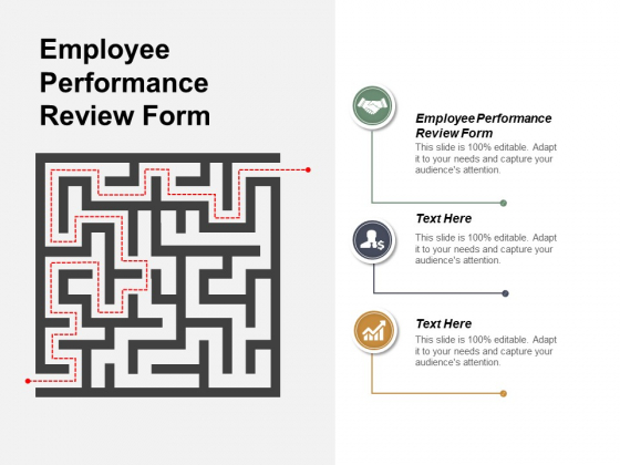 Employee Performance Review Form Ppt PowerPoint Presentation Infographics Graphic Images Cpb