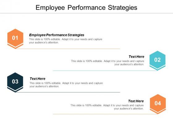 Employee Performance Strategies Ppt PowerPoint Presentation Summary Elements Cpb