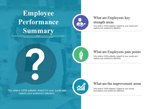 Employee Performance Summary Ppt PowerPoint Presentation Gallery Template
