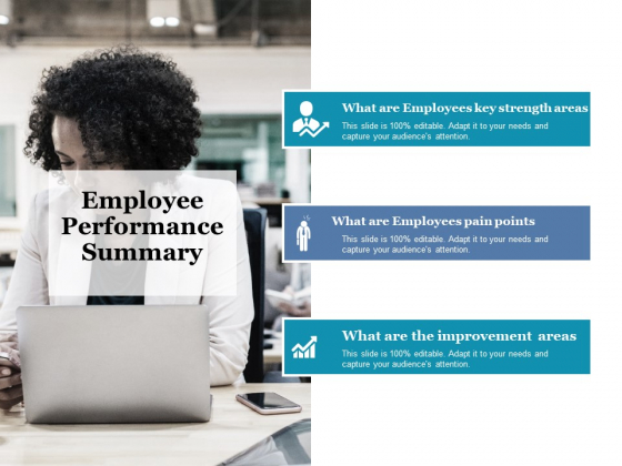 Employee Performance Summary Ppt PowerPoint Presentation Infographics Diagrams