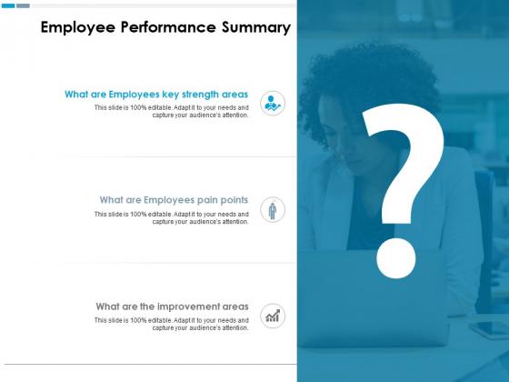 Employee Performance Summary Ppt PowerPoint Presentation Model Microsoft