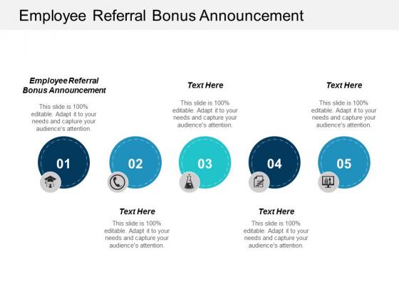 Employee Referral Bonus Announcement Ppt Powerpoint Presentation Styles Ideas Cpb
