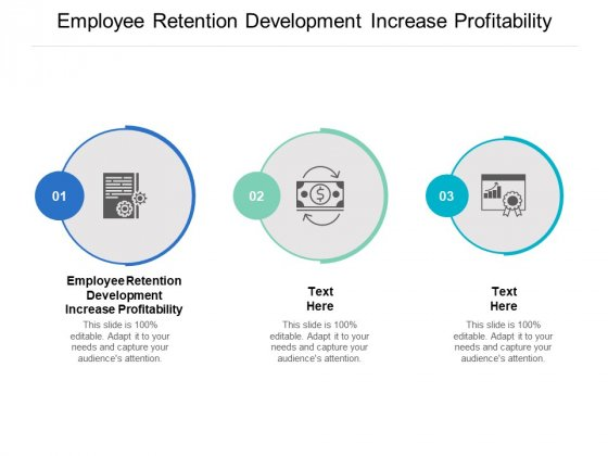 Employee Retention Development Increase Profitability Ppt PowerPoint Presentation Gallery Mockup Cpb
