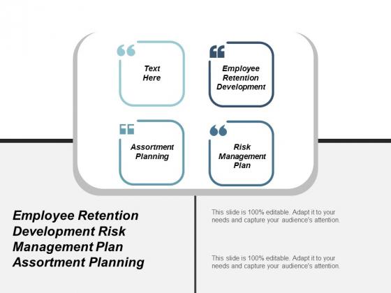 Employee Retention Development Risk Management Plan Assortment Planning Ppt PowerPoint Presentation Summary Backgrounds