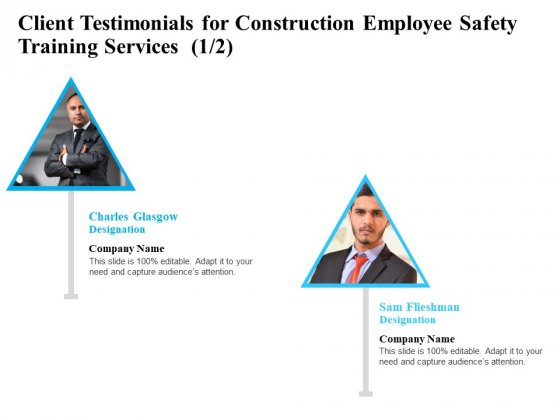 Employee Safety Health Training Program Client Testimonials For Construction Employee Safety Services Information PDF