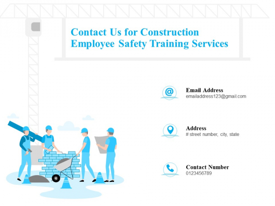 Employee Safety Health Training Program Contact Us For Construction Employee Safety Services Summary PDF