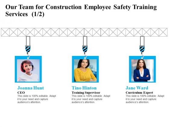 Employee Safety Health Training Program Our Team For Construction Employee Training Services Microsoft PDF